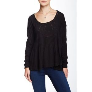 Free People New Hope Babydoll Blouse